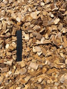 100% Cypress Hardwood Chips - Ruler View
