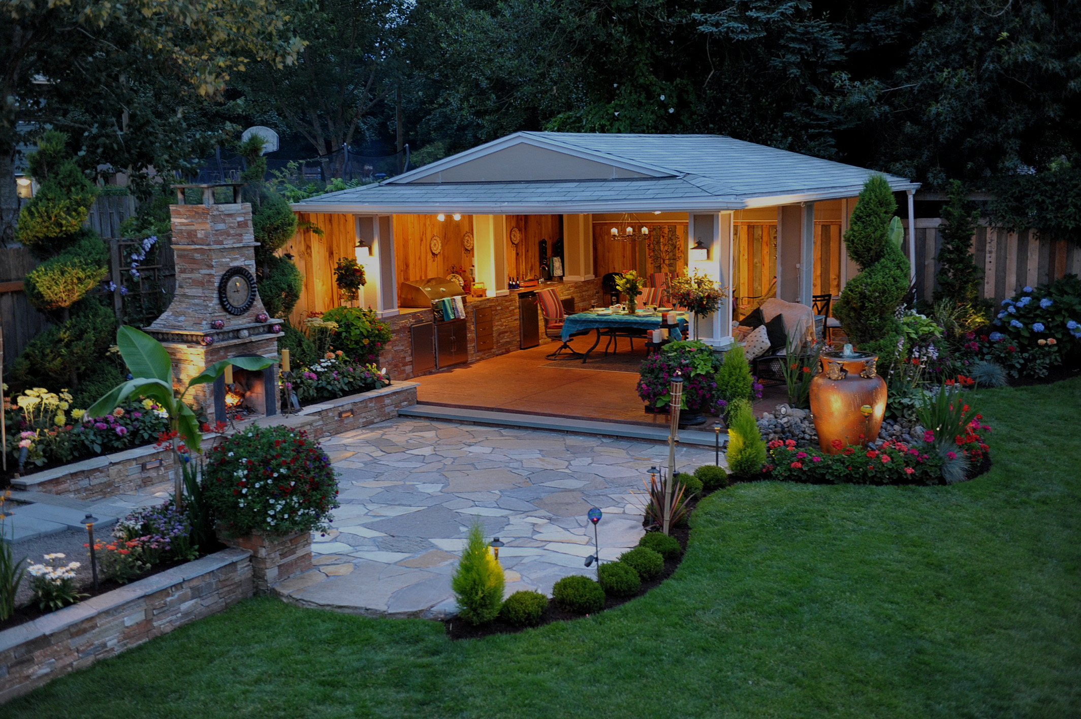 Southern Lawn Designs - Natural Stone & Full Rock Yard ... on Rock And Stone Outdoor Living id=26247