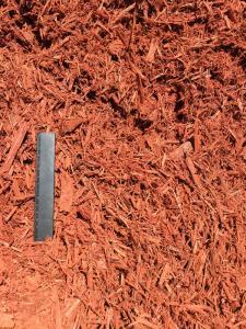 Rustic Red Mulch - Ruler View